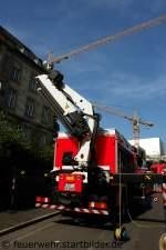 Essen/177007/heckladekran-des-rw-2-von-der-feuerwehr Heckladekran des RW-2 von der Feuerwehr Essen. Aufgenommen beim NRW Tag 2011 in Bonn.